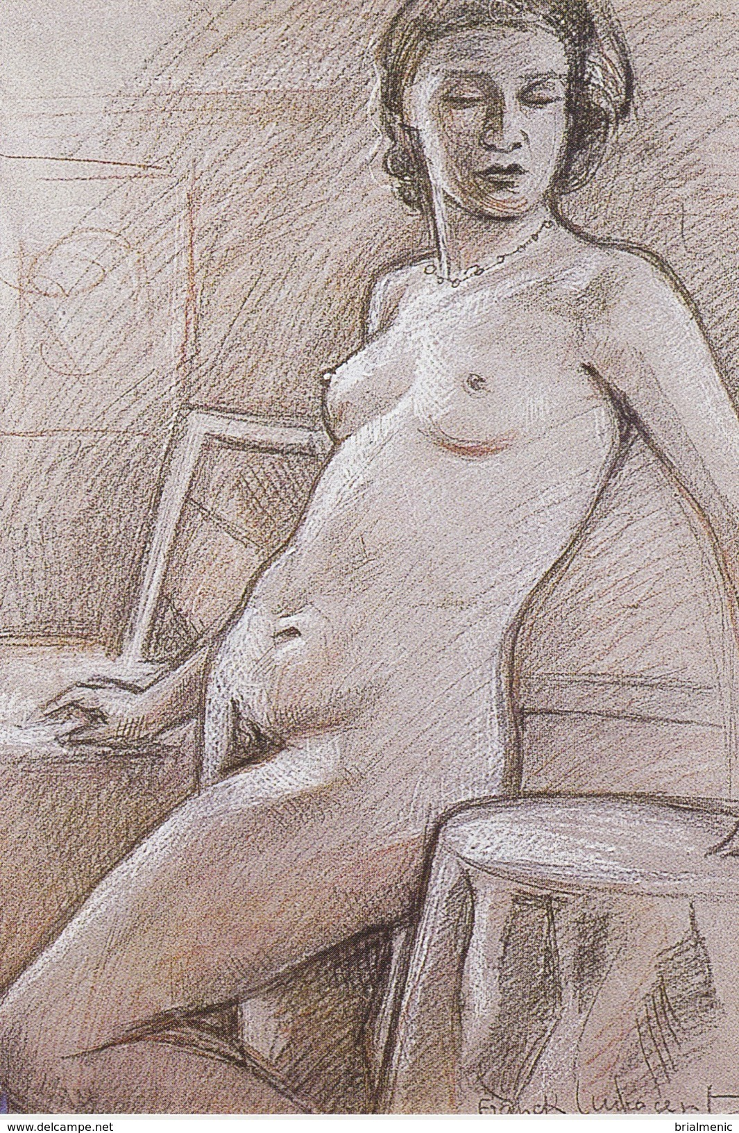 Fusain Et Pastel 1947 ( Franck Innocent ) - Disegni