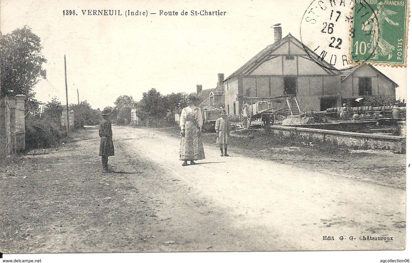 VERNEUIL. ROUTE DE SAINT CHARTIER. POTERIE - France