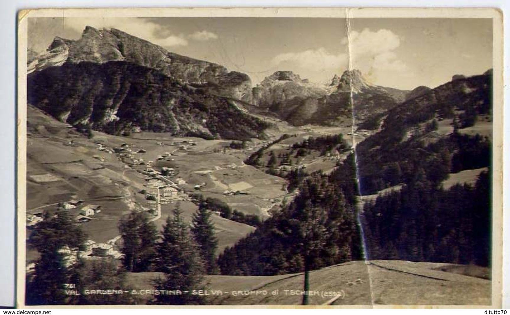 Val Badia - La Villa - Gruppo Sella E Sass Songher - 17-46 - Formato Piccolo Viaggiata - E 2 - Cartoline