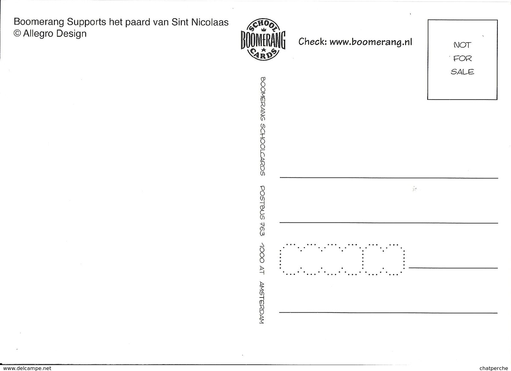 LOGO FERRARI ?? SCHIMMEL CHEVAL  EDIT. BOOMERANG NL - Cartes Postales