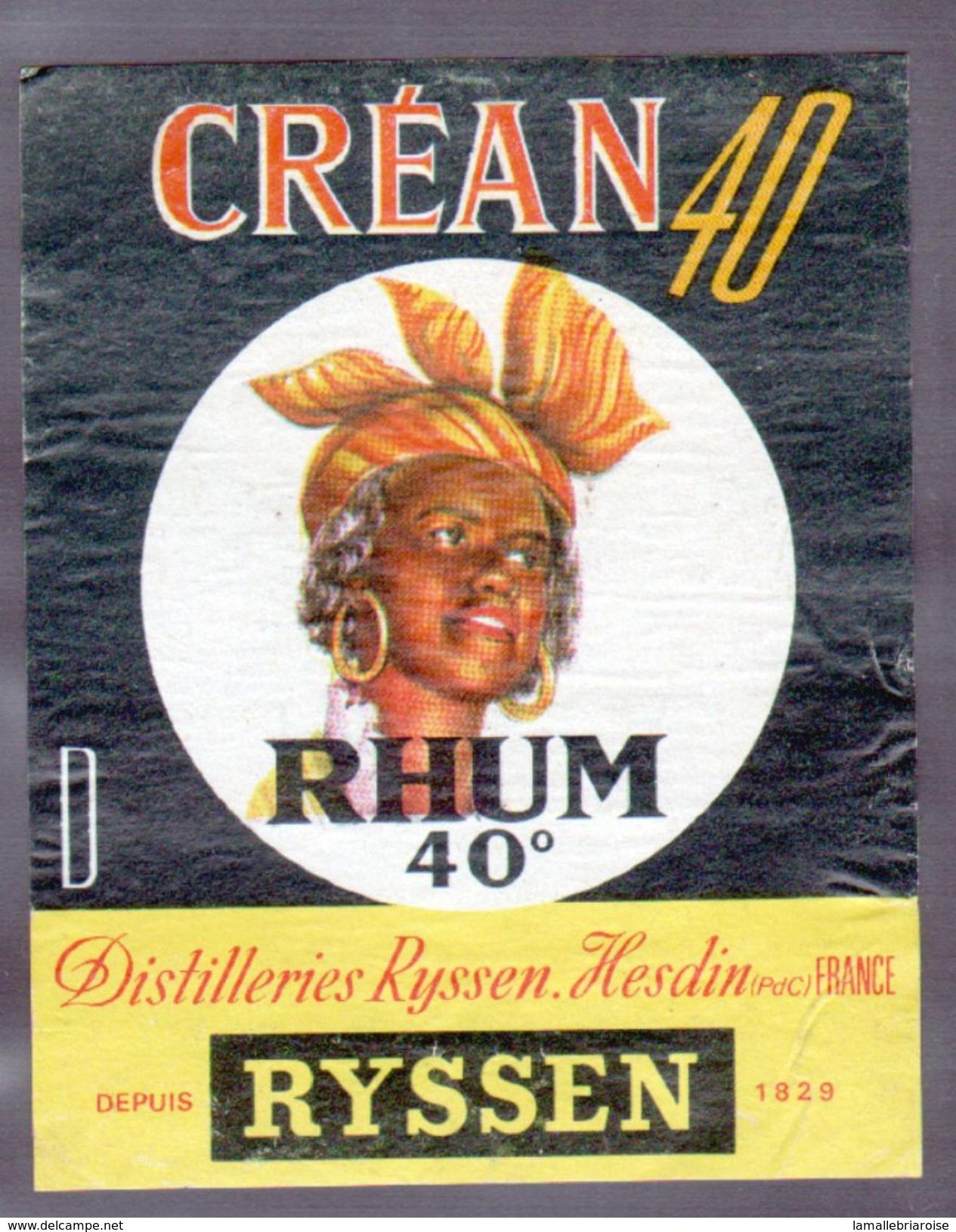 ETIQUETTE RHUM RYSSEN (scannée Recto-verso) - Rhum