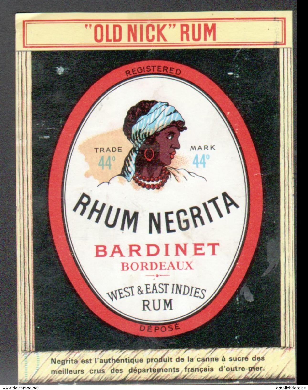 ETIQUETTE RHUM NEGRITA (scannée Recto-verso) - Rhum