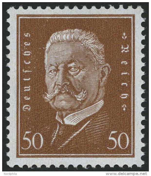 Dt. Reich 420 **, 1928, 50 Pf. Hindenburg, Pracht, Gepr. Schlegel, Mi. 140.- - Germany