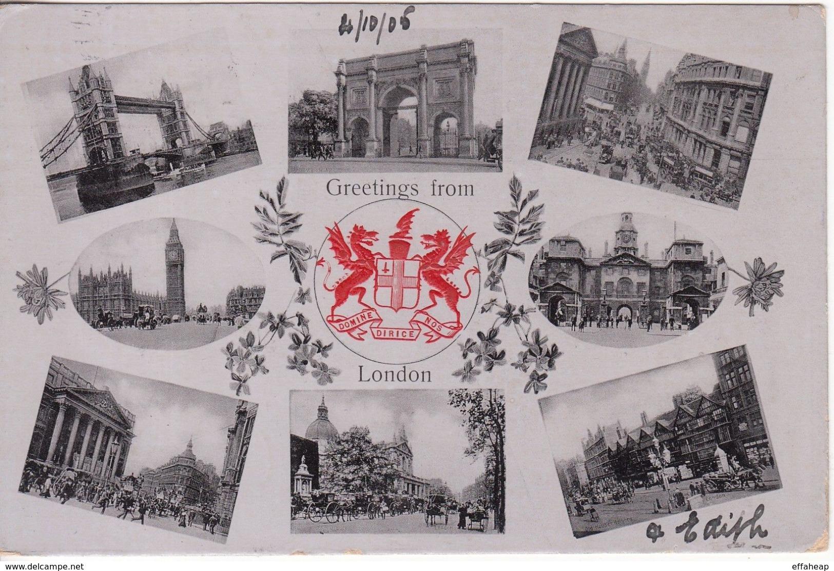 GB: EDVII London Postcard; West Kensington To Zurich, Switzerland, 4-5 Oct 1905 - 1902-1951 (Kings)