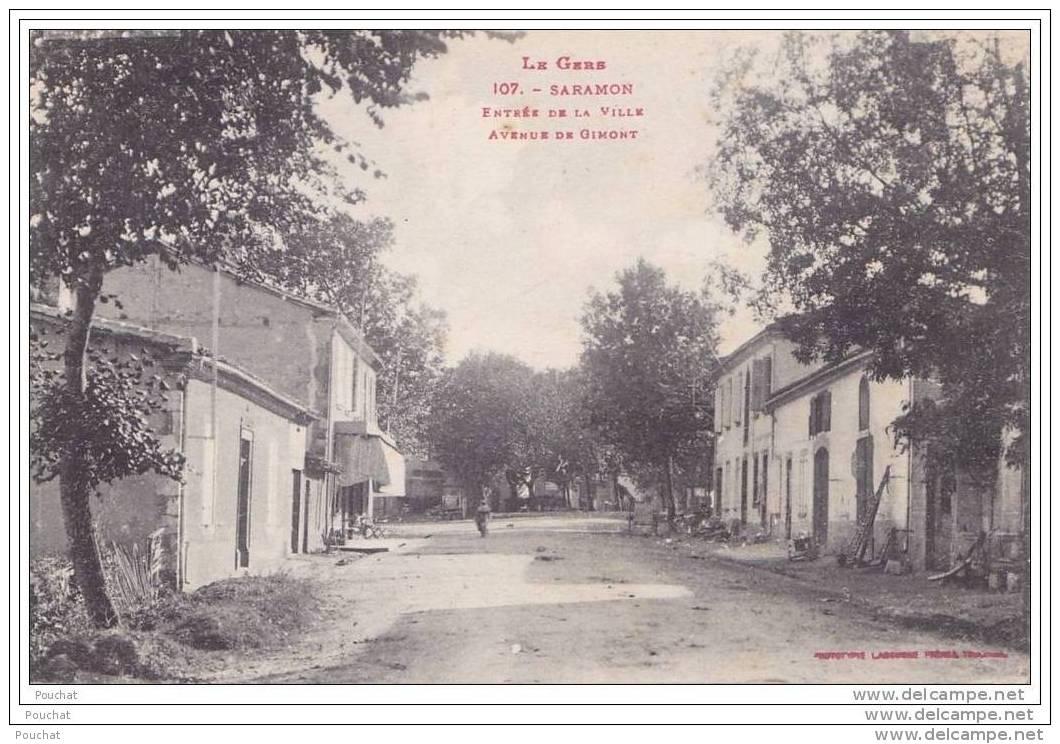 32) Saramon.- (Gers)  Entrée De La Ville - Avenue De Gimont - France