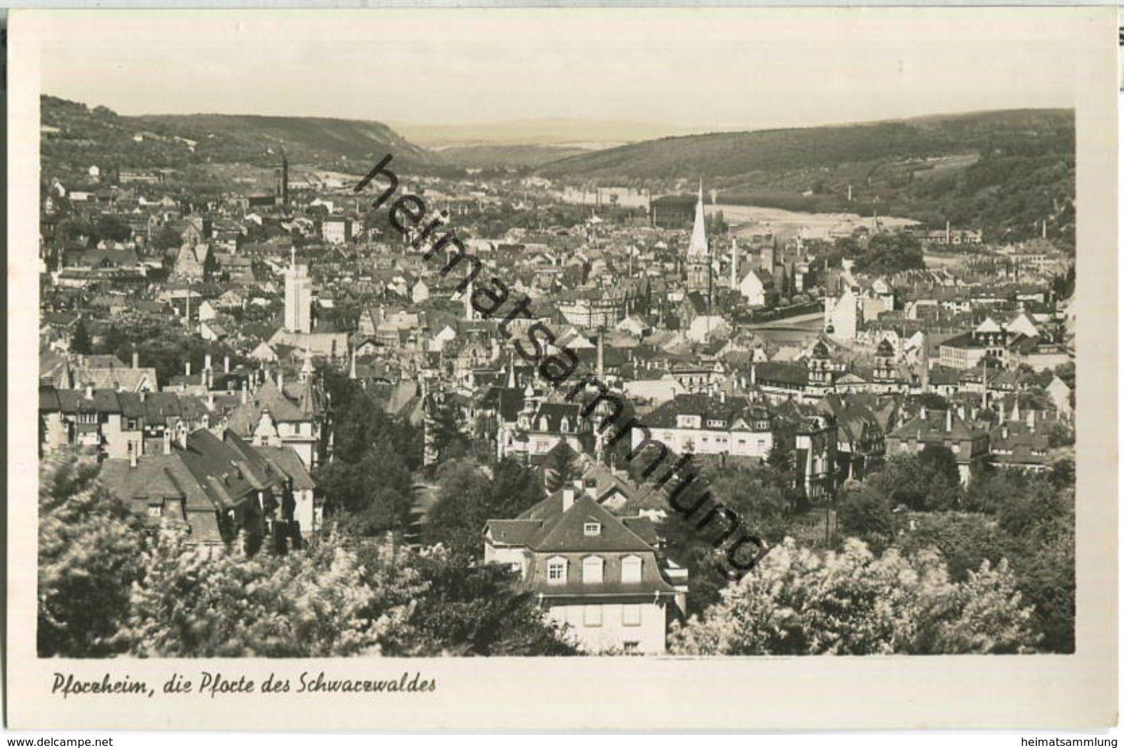 Pforzheim - Foto-Ansichtskarte - Verlag A. Weber & Co Stuttgart - Pforzheim