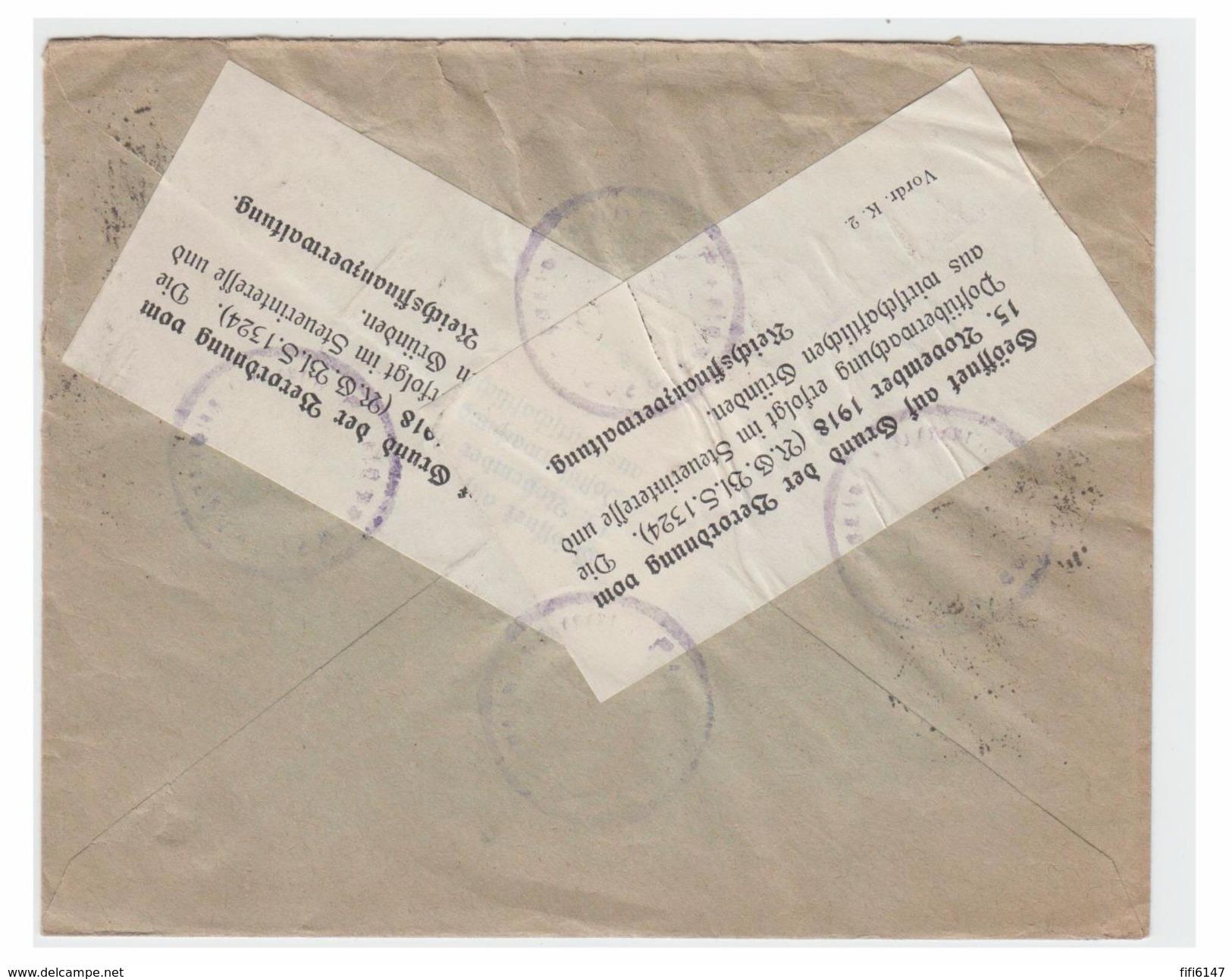 ALLEMAGNE -- 1923 -- LETTRE DE FLENSBURG POUR LA SUEDE -- - Allemagne