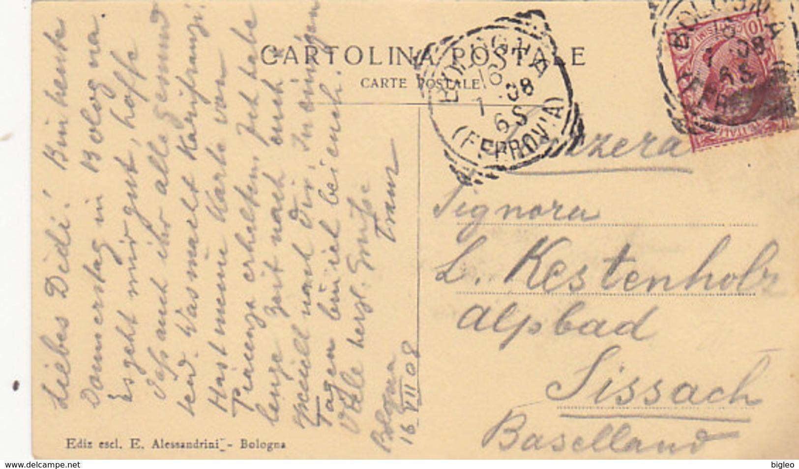 Saluti Da Bologna - Porta Saragozza Con Tram - 1908       (A-46-120607) - Tram