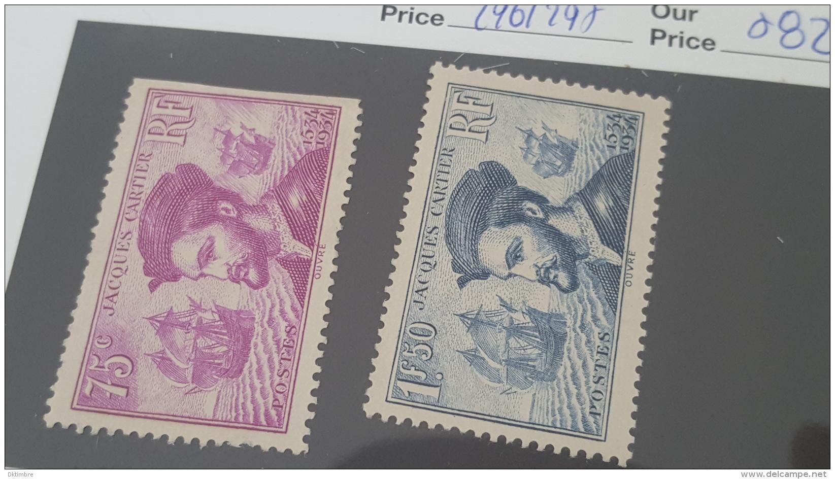 LOT 359739 TIMBRE DE FRANCE NEUF** N°296/297 - France