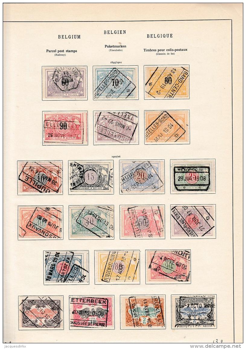 Belgium          Page With Stamps - Spoorwegen