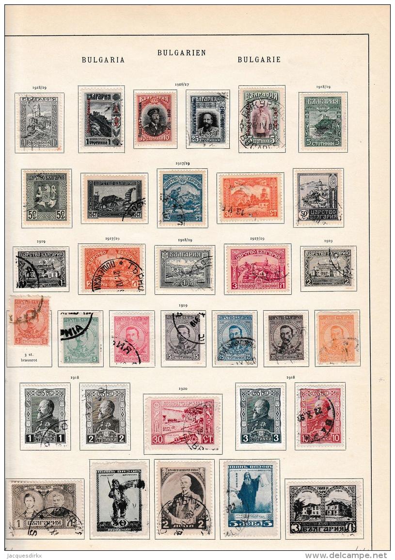 Bulgaria            Page With Stamps - 1909-45 Koninkrijk