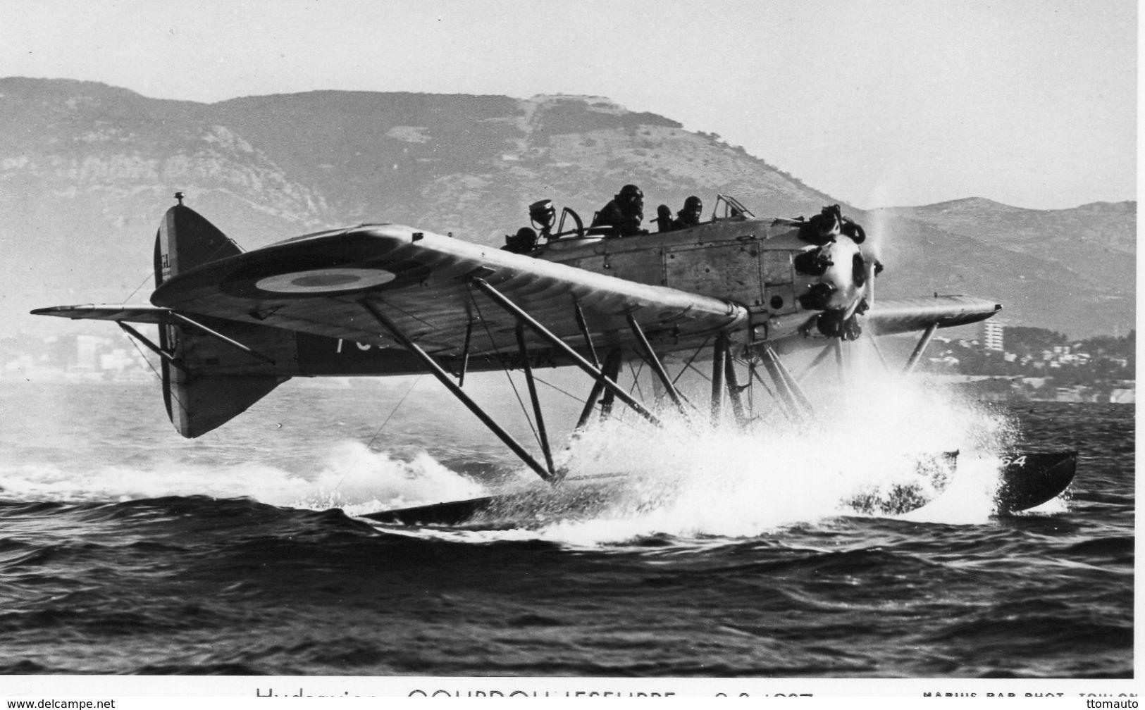 Hydravion  -  Gourdou Leseurre  -  1937  -   Marius Bar Photo Carte  -  CP - 1919-1938: Entre Guerras