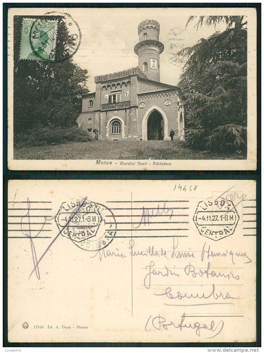 ITALIA [OF #14458] - MONZA - GIARDINI REALI BIBLIOTECA LIBRARY - Monza