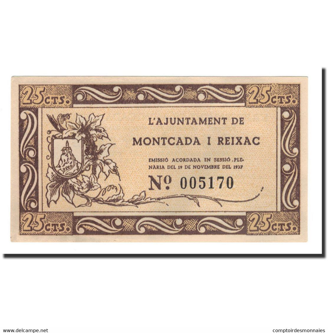Espagne, 25 Centimos, 1937, 1937-11-19, NEUF - Espagne