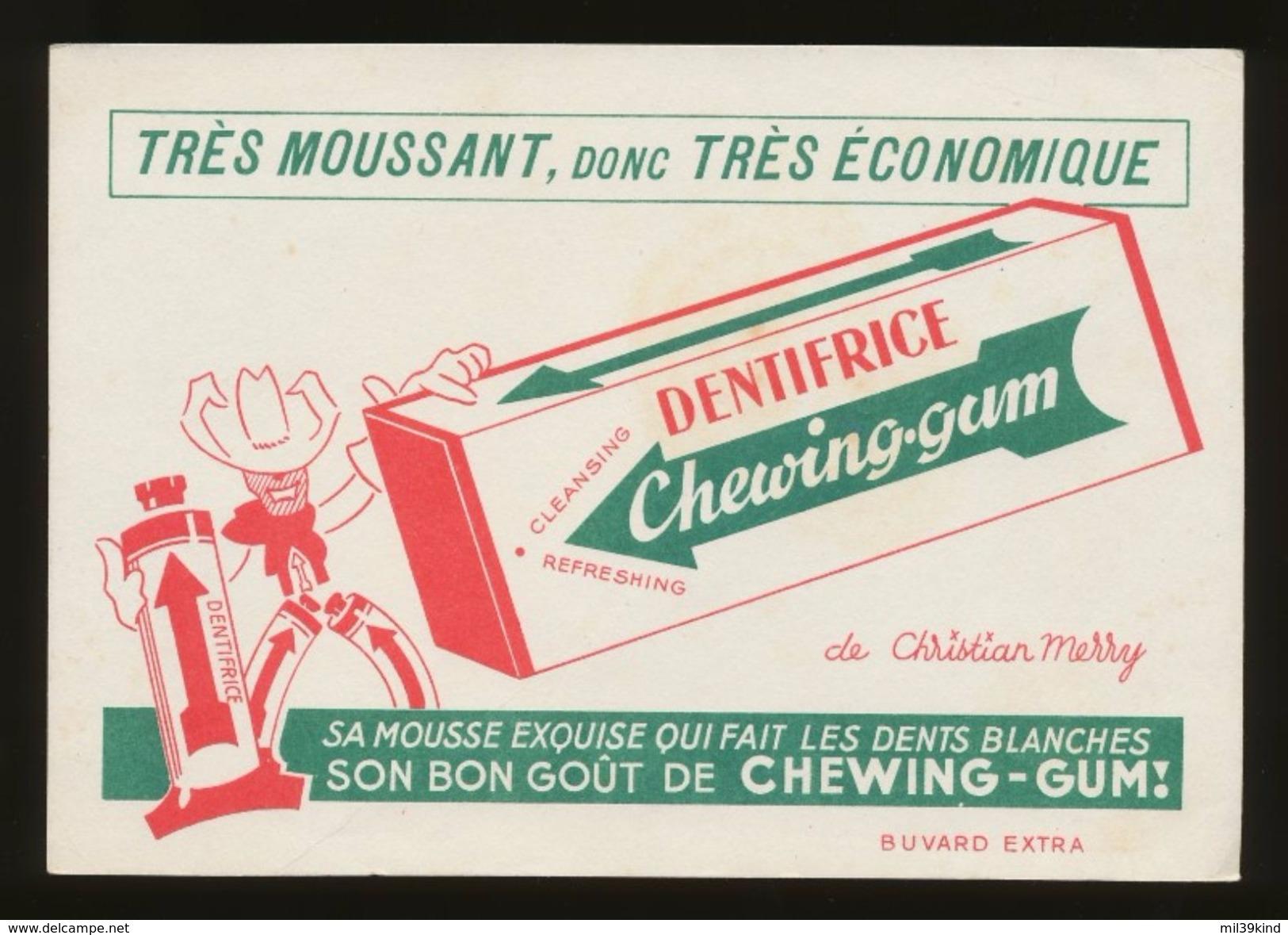 Publicite - DENTIFRICE Chewing-Gum - Buvards, Protège-cahiers Illustrés