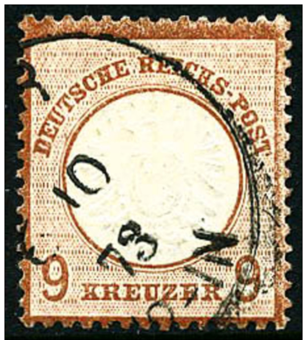 N°24, 9 K. Brun-rouge, Oblitéré, TB - Germany