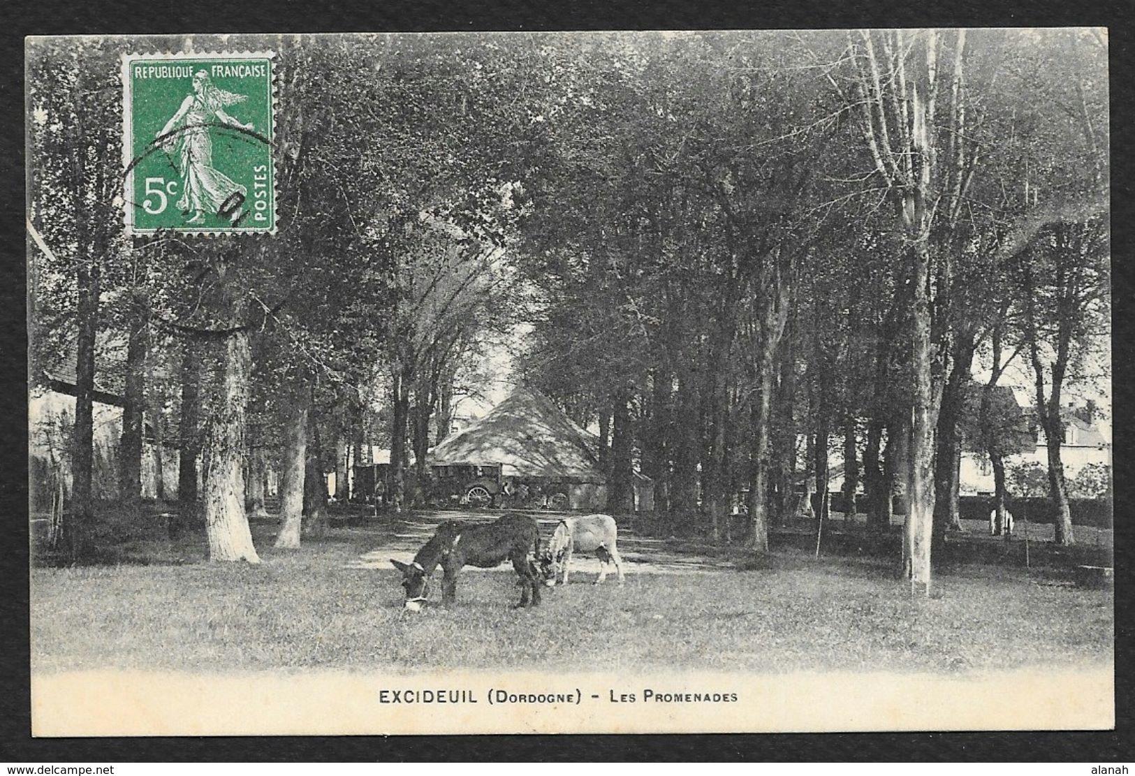 EXCIDEUIL Rare Les Promenades Anes () Dordogne (24) - Francia