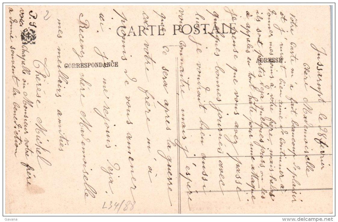 88 AUMONTZEY - Eglise Construite Mar Mme Vve Walter-Seitz (Recto/Verso) - Francia