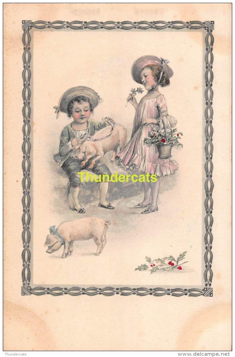 CPA EDIT. TRENKLER  ENFANT COCHON CHILDREN PIG TRENKLER 2065/6 - Cochons