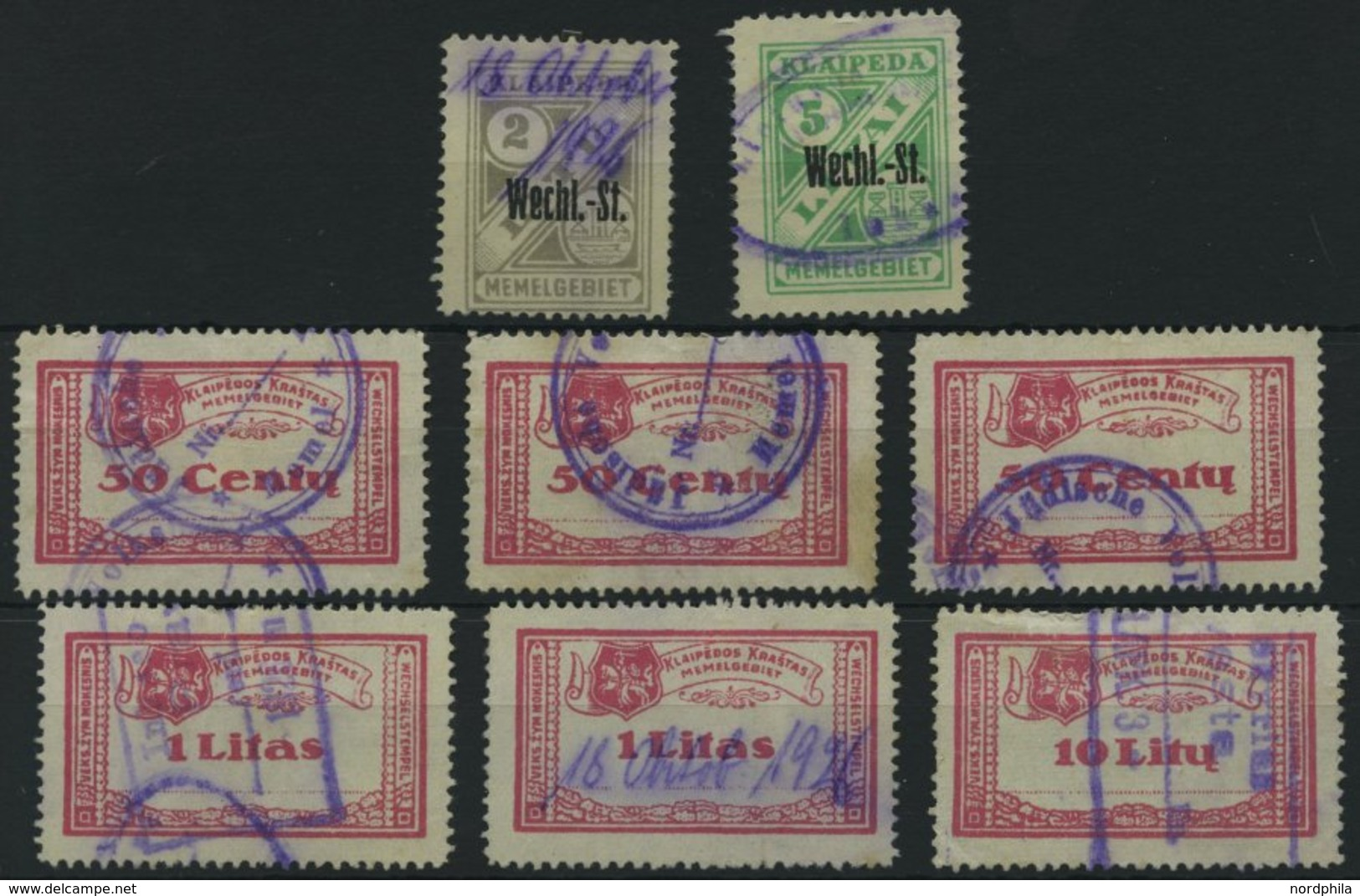 LITAUEN O, 8 Gebrauchte Stempelmarken, Feinst/Pracht - Litauen