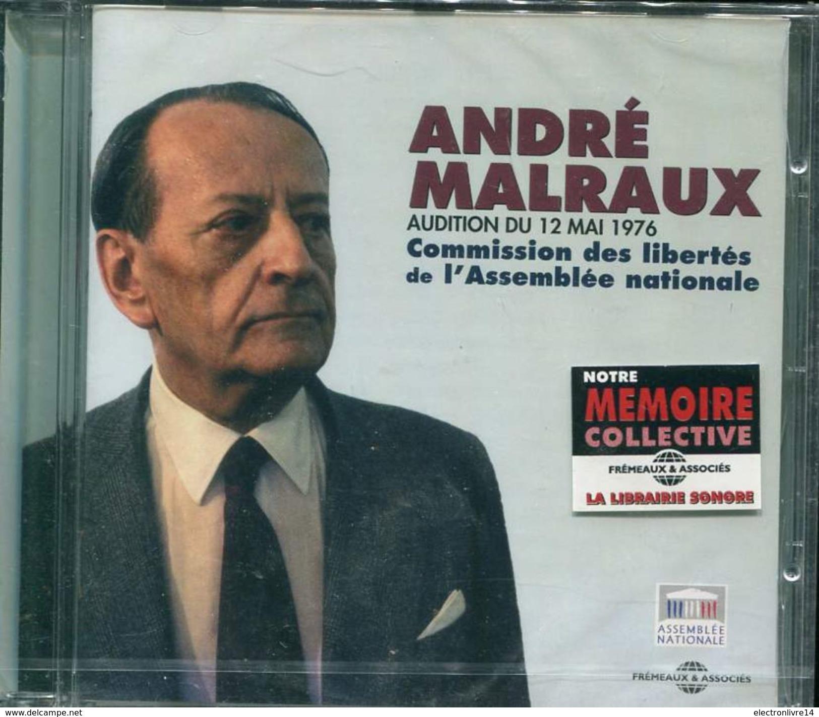 Cd  Coffret 1 Cd Neuf Sous Blister Andre Malraux Audition Du 12 Mai 1976 Comission Des Libertes A L'assemblee Nationale - Audio Books