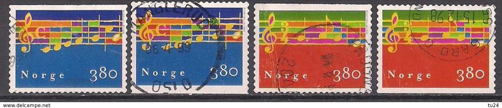 Norwegen  (1998)  Mi.Nr. 1297 + 1298  Gest. / Used  (6fi22) - Gebraucht