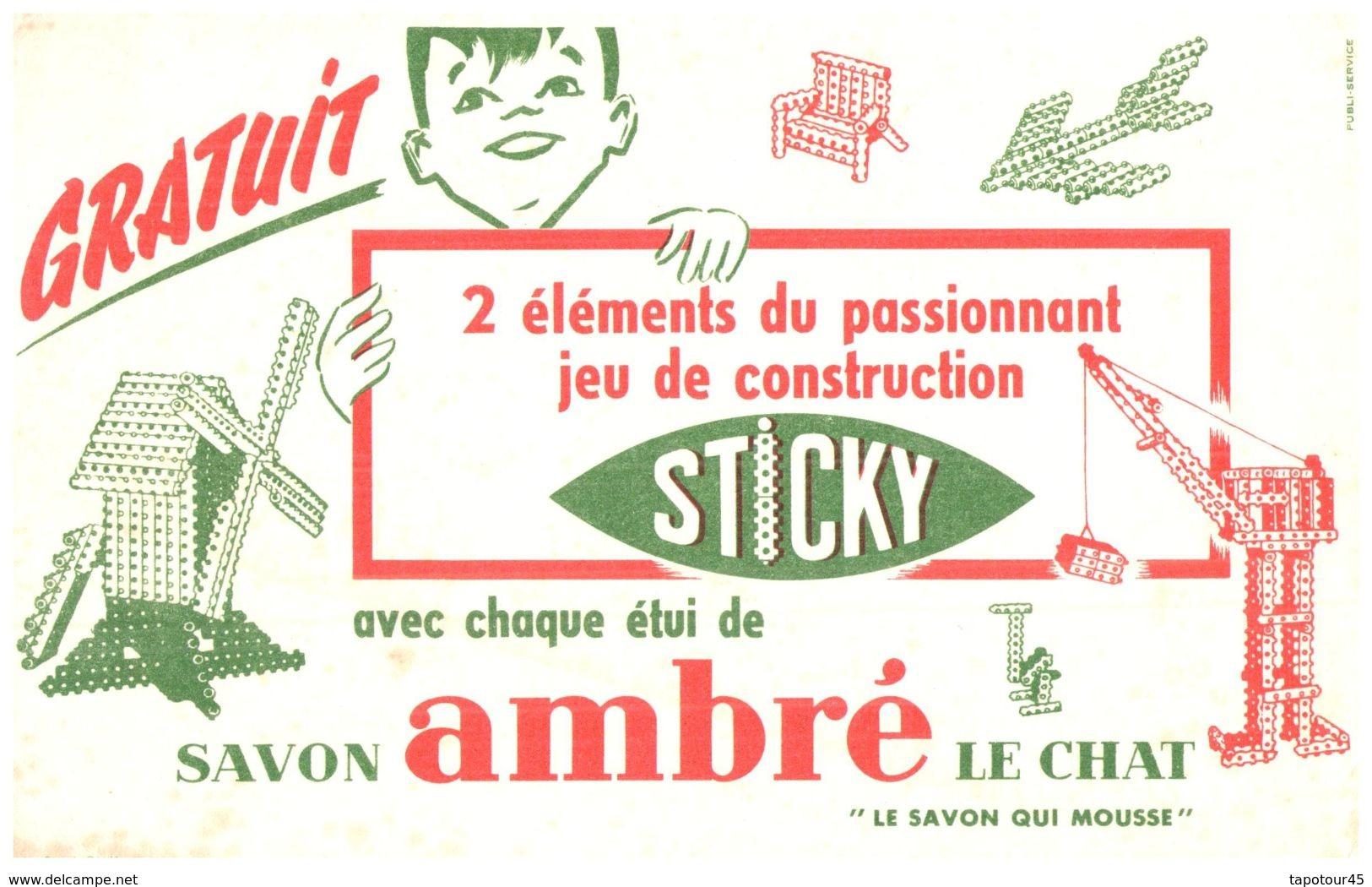 SA L C/ Buvard Savon Ambré Le Chat  (N= 1) - Buvards, Protège-cahiers Illustrés