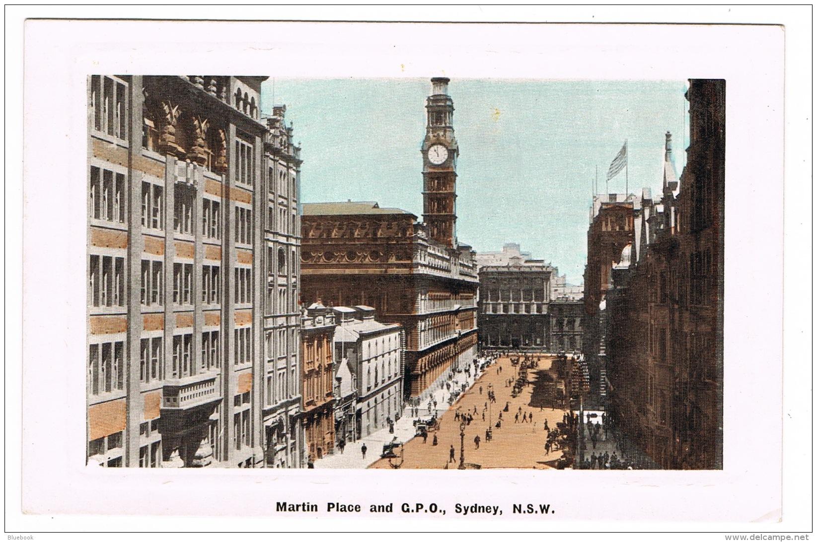 RB 1161 - Early Postcard - Martin Place & General Post Office - Sydney NSW Australia - Sydney