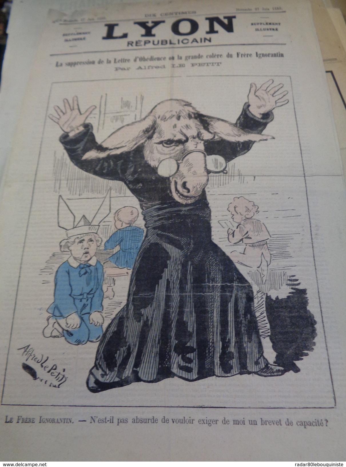 LYON Républicain.dimanche 27 Juin 1880.par ALFRED LE PETIT.4 Pages.B. - Journaux - Quotidiens
