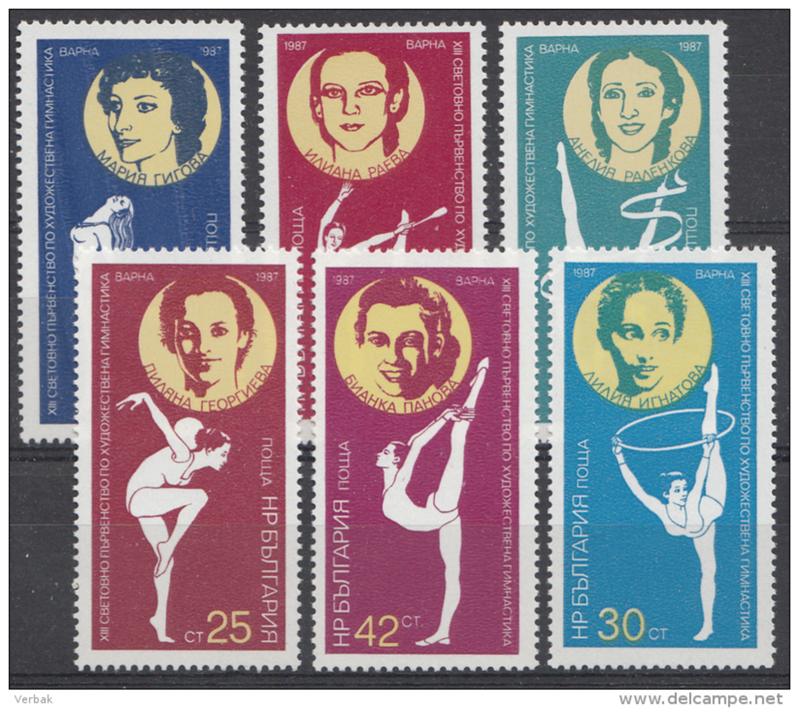 BULGARIJE / BULGARIEN MI.NR.3588-3593 MNH / POSTFRIS / NEUF SANS CHARNIERE 1987 - Nuovi