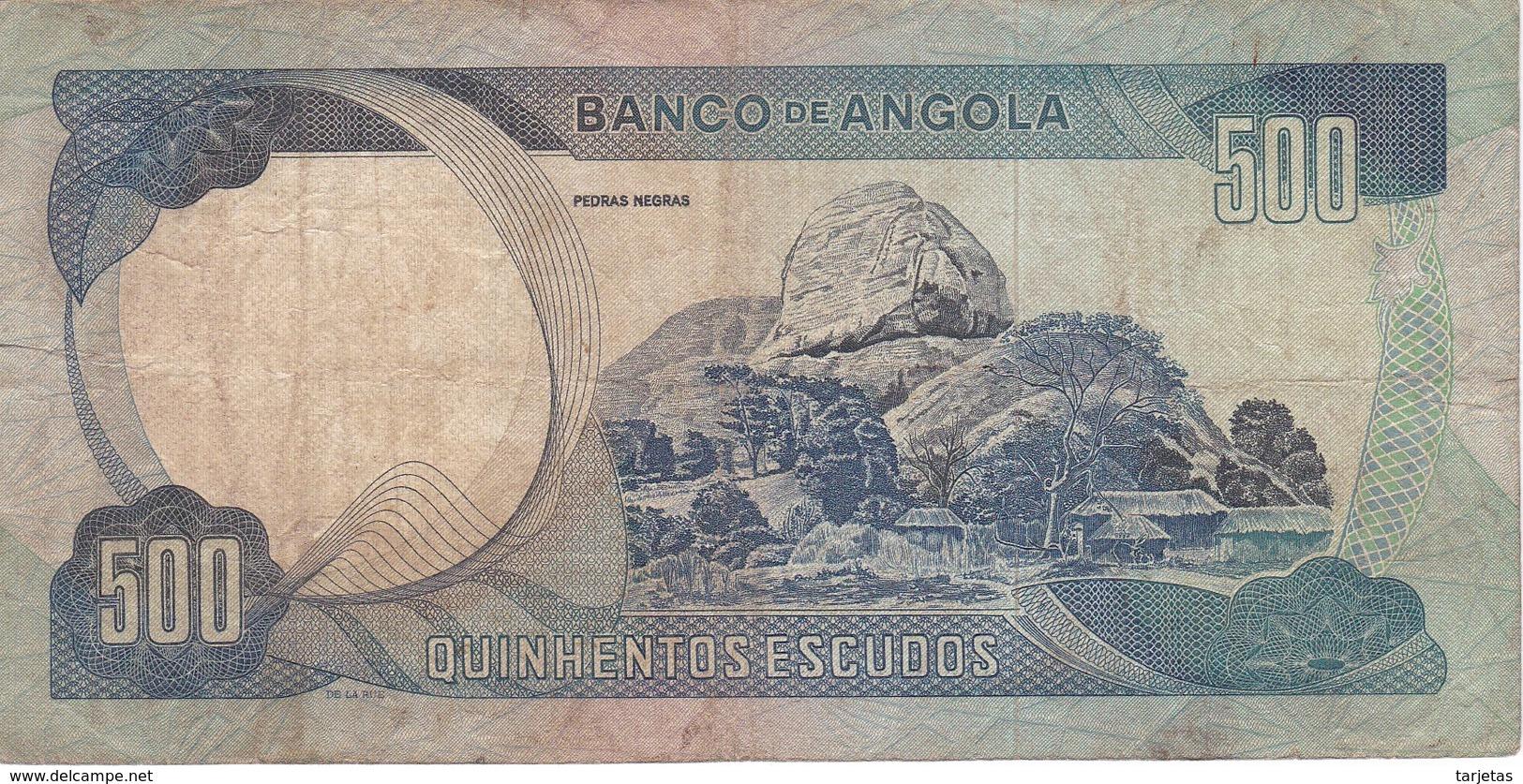BILLETE DE ANGOLA DE 500 ESCUDOS DEL AÑO 1972 (BANKNOTE) - Angola