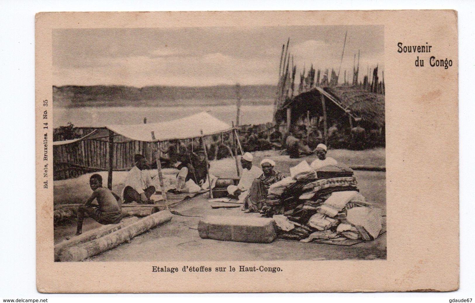 ETALAGE D'ETOFFES SUR LE HAUT CONGO - Congo - Brazzaville