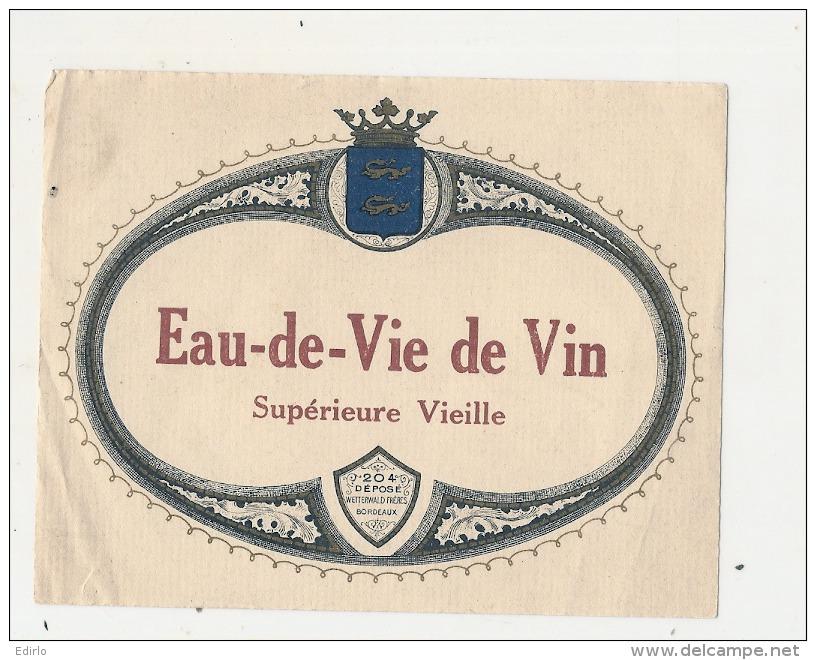 - étiquette - Eau De Vie De Vin  - PLIS - Whisky