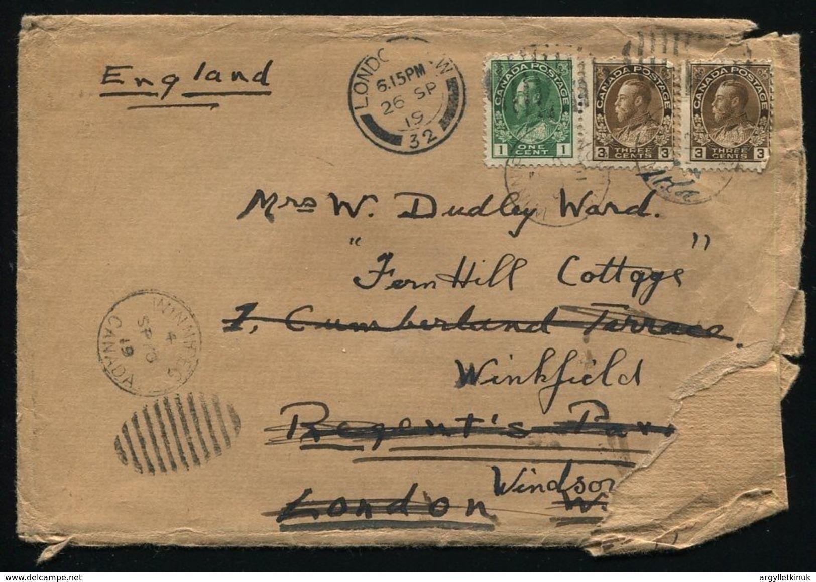 KING EDWARD EIGTH CANADA TRAIN TOUR RAILWAY WINNIPEG 1919 GOLF - Unclassified