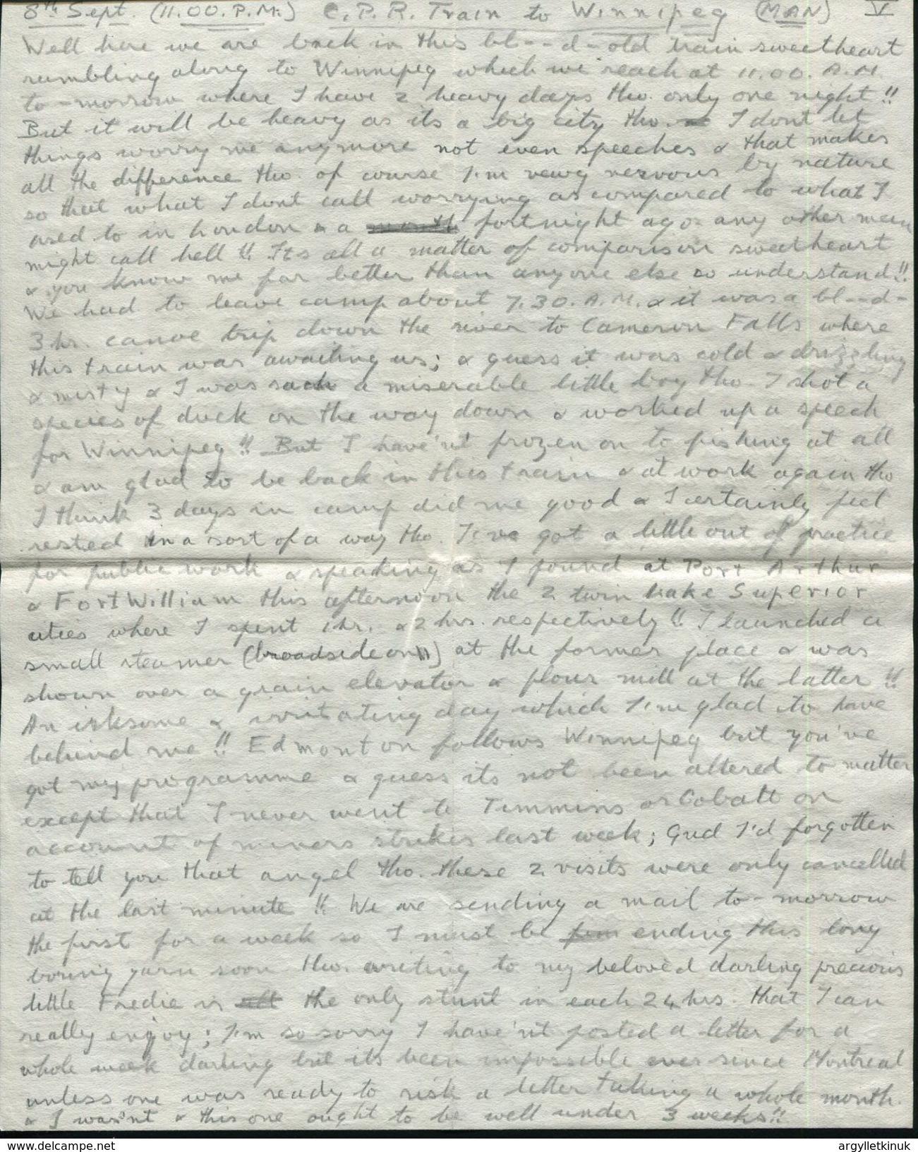 ROYALTY KING EDWARD 8TH CANADA RAILWAY WINNIPEG 1919 GOLF - Historical Documents