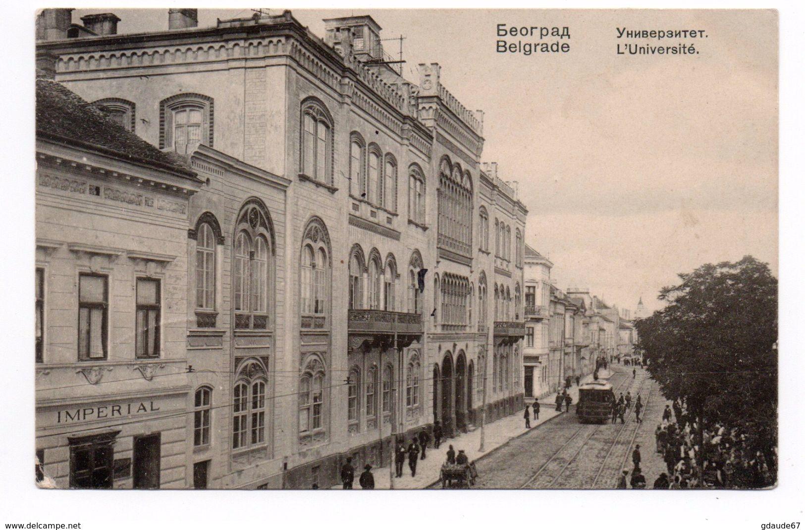 BEGRADE - L'UNIVERSITE - Serbien