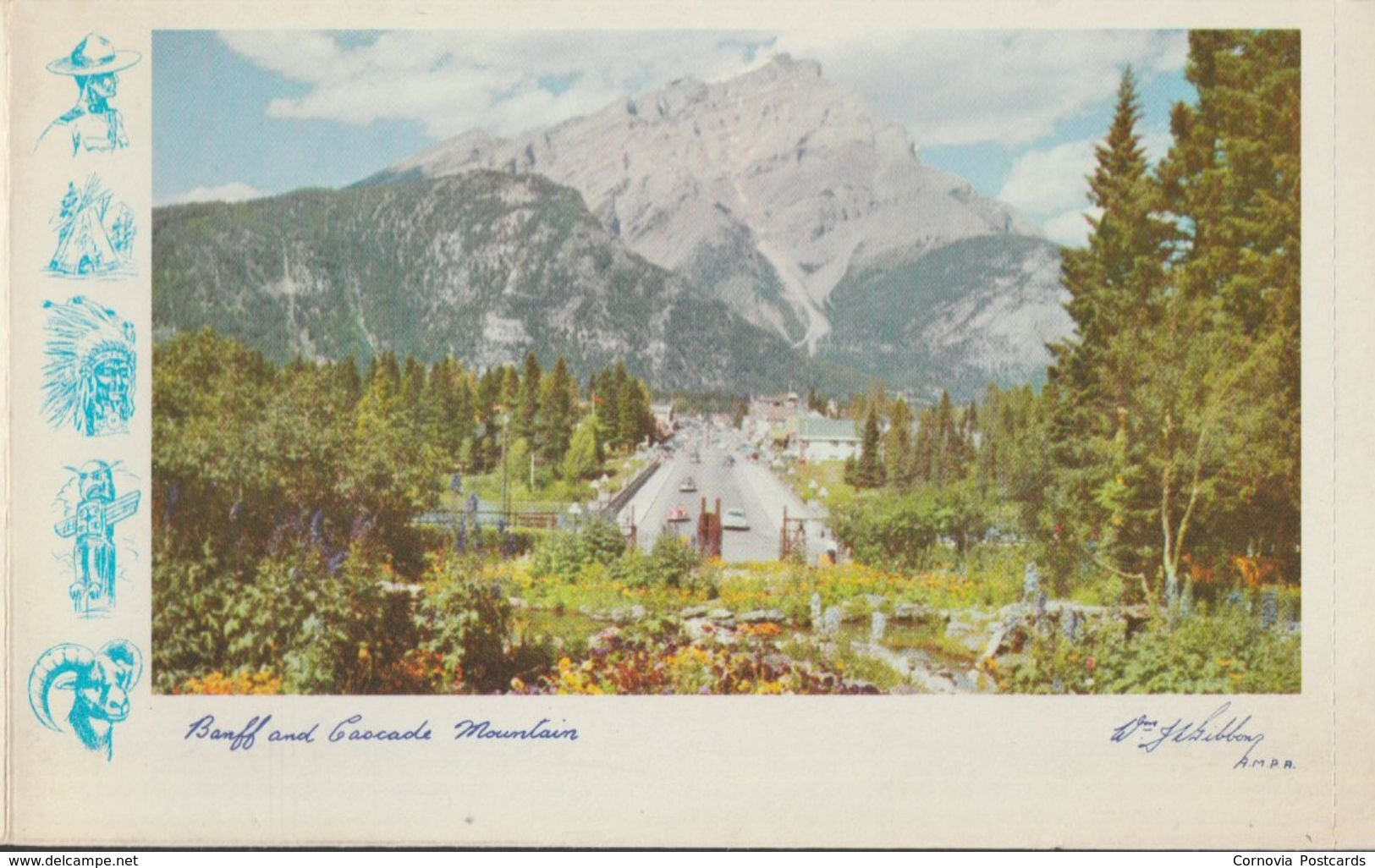 Greetings From The Canadian Rockies, Alberta, Canada, 1958 - Evergreen-Gibbons Lettersheet - Alberta
