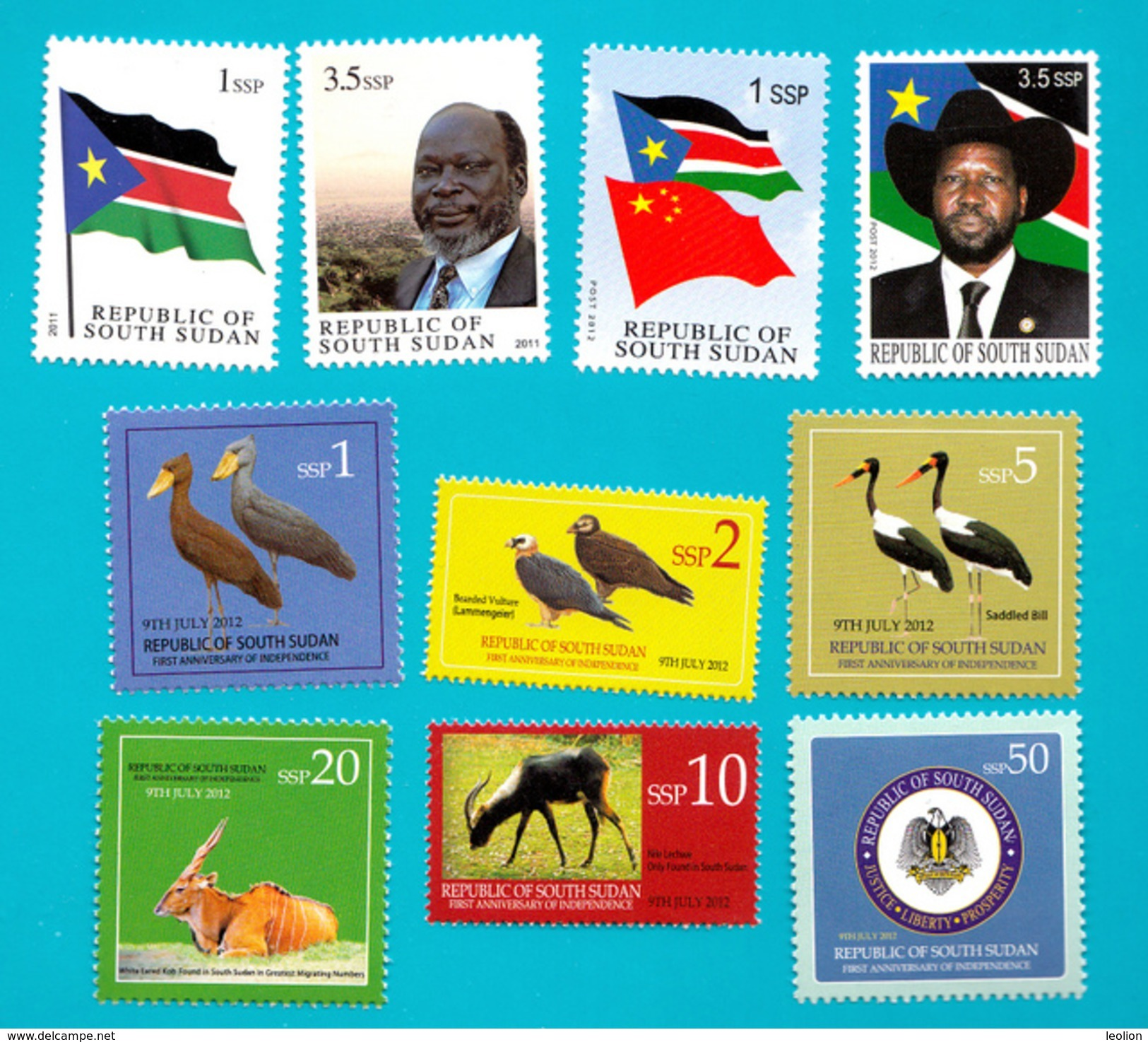 SOUTH SUDAN !Special Offer!! Full Sets 1st (2 Stamps) & 2nd Issue (6 Stamps) And Unissued Set = Südsudan Soudan Du Sud - South Sudan