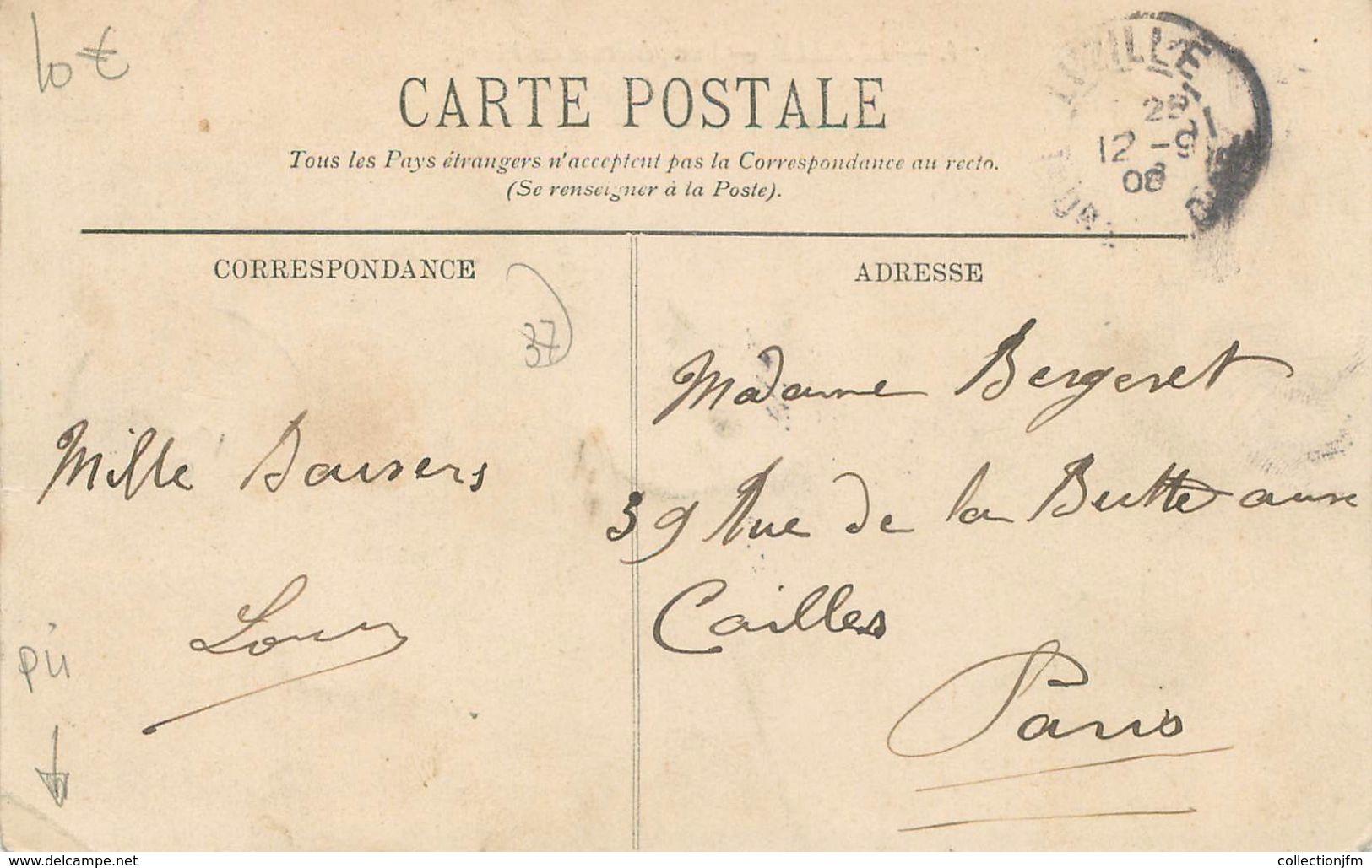 """CPA FRANCE 37 """"Luzillé, Vue Générale Du Bourg"""" - France"""