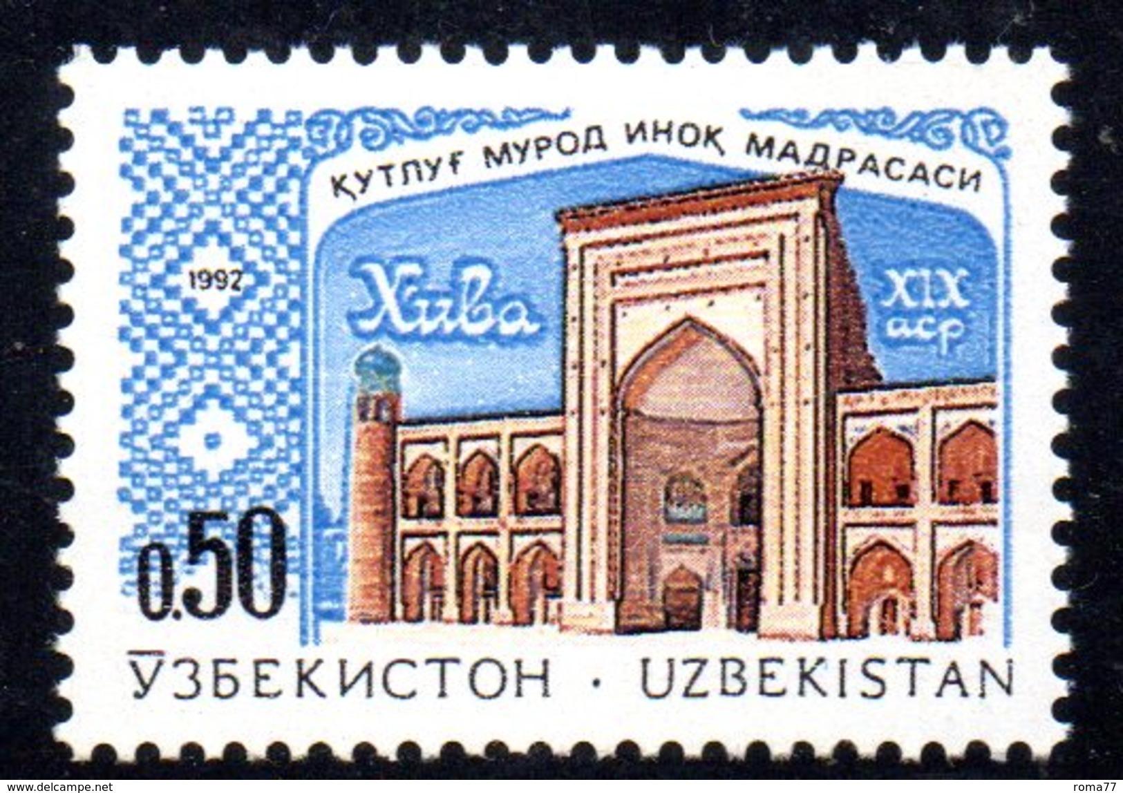 T2023 - UZBEKISTAN 1992 ,Unificato N. 4  ***  Architettura - Uzbekistan