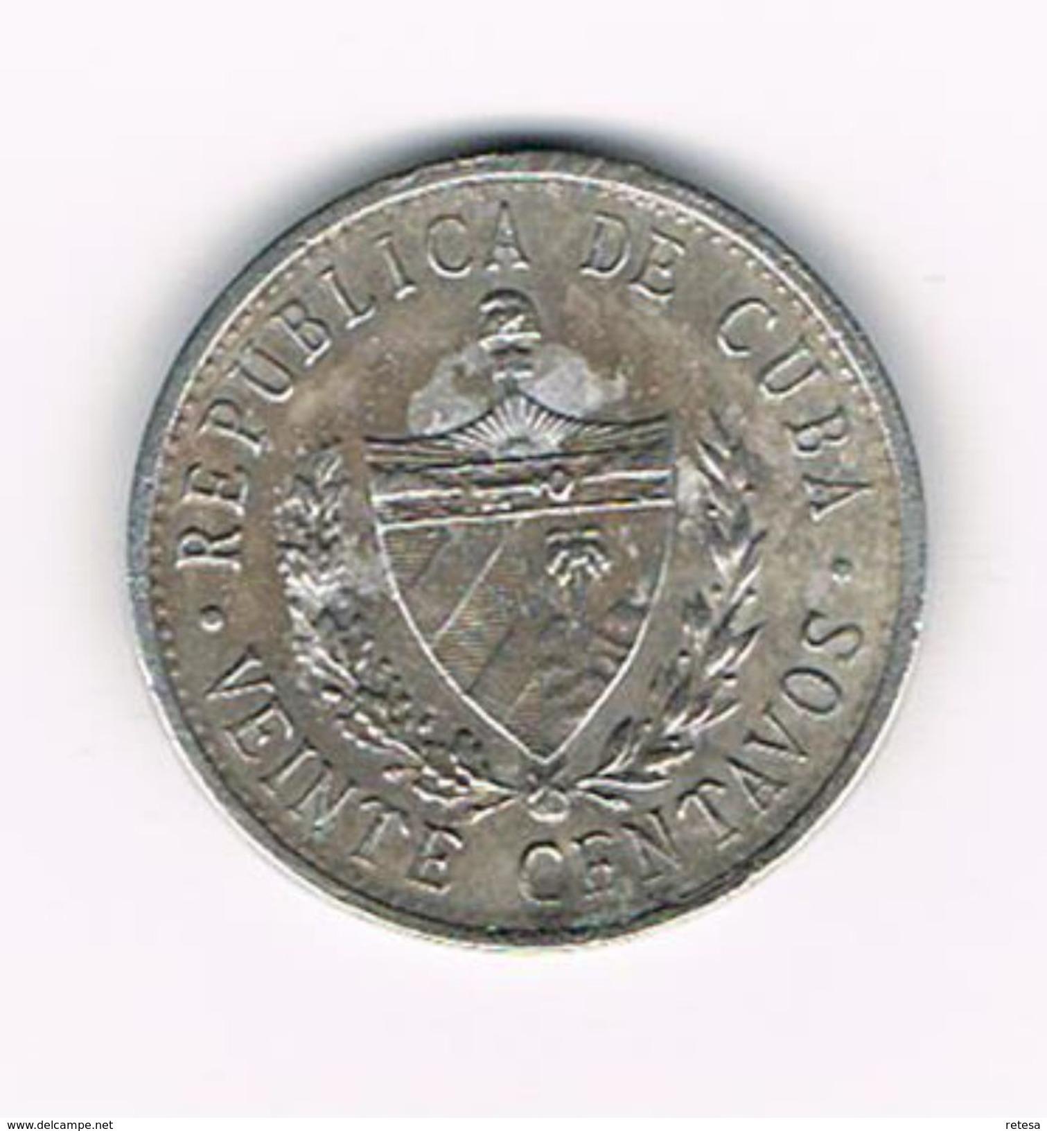 ) CUBA  XX CENTAVOS   1971 - Cuba