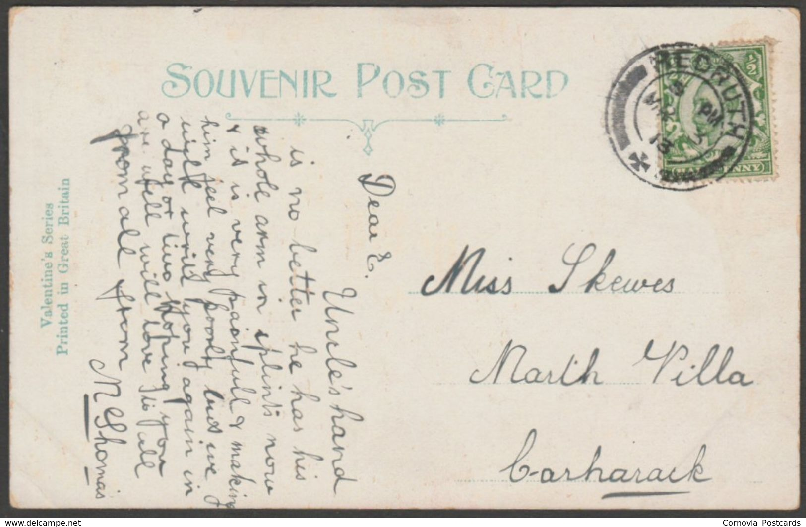 Fore Street, Redruth, Cornwall, 1913 - Valentine's Postcard - Other