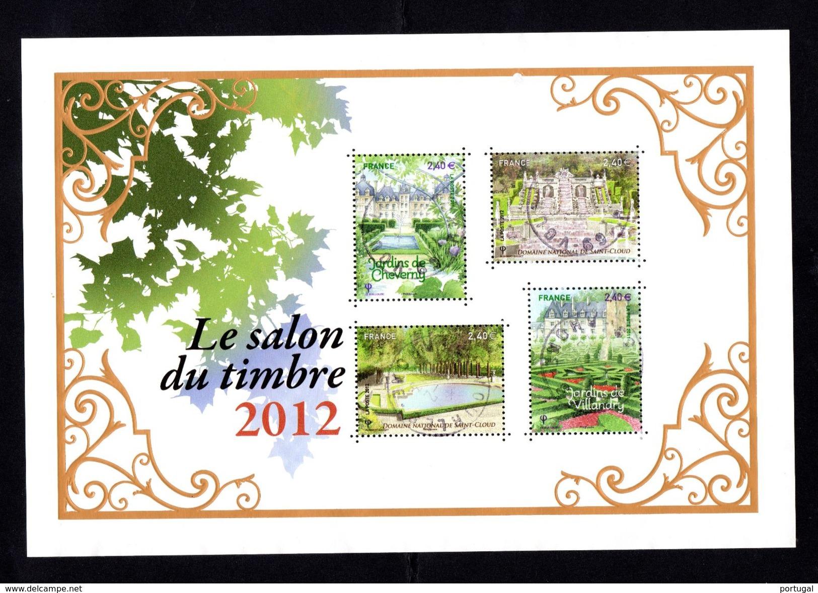 132 SALON DU TIMBRE 2012  JARDINS DE FRANCE - Sheetlets