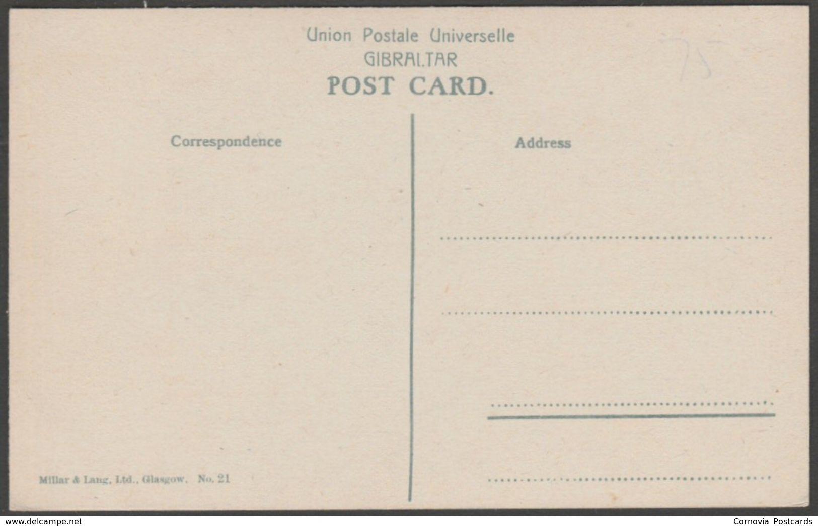 Casemates Barracks, Gibraltar, C.1905 - Millar & Lang Postcard - Gibraltar