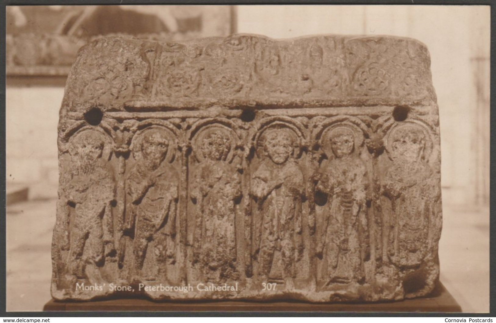 Monk's Stone, Peterborough Cathedral, Cambridgeshire, C.1930s - King's Lodging RP Postcard - England