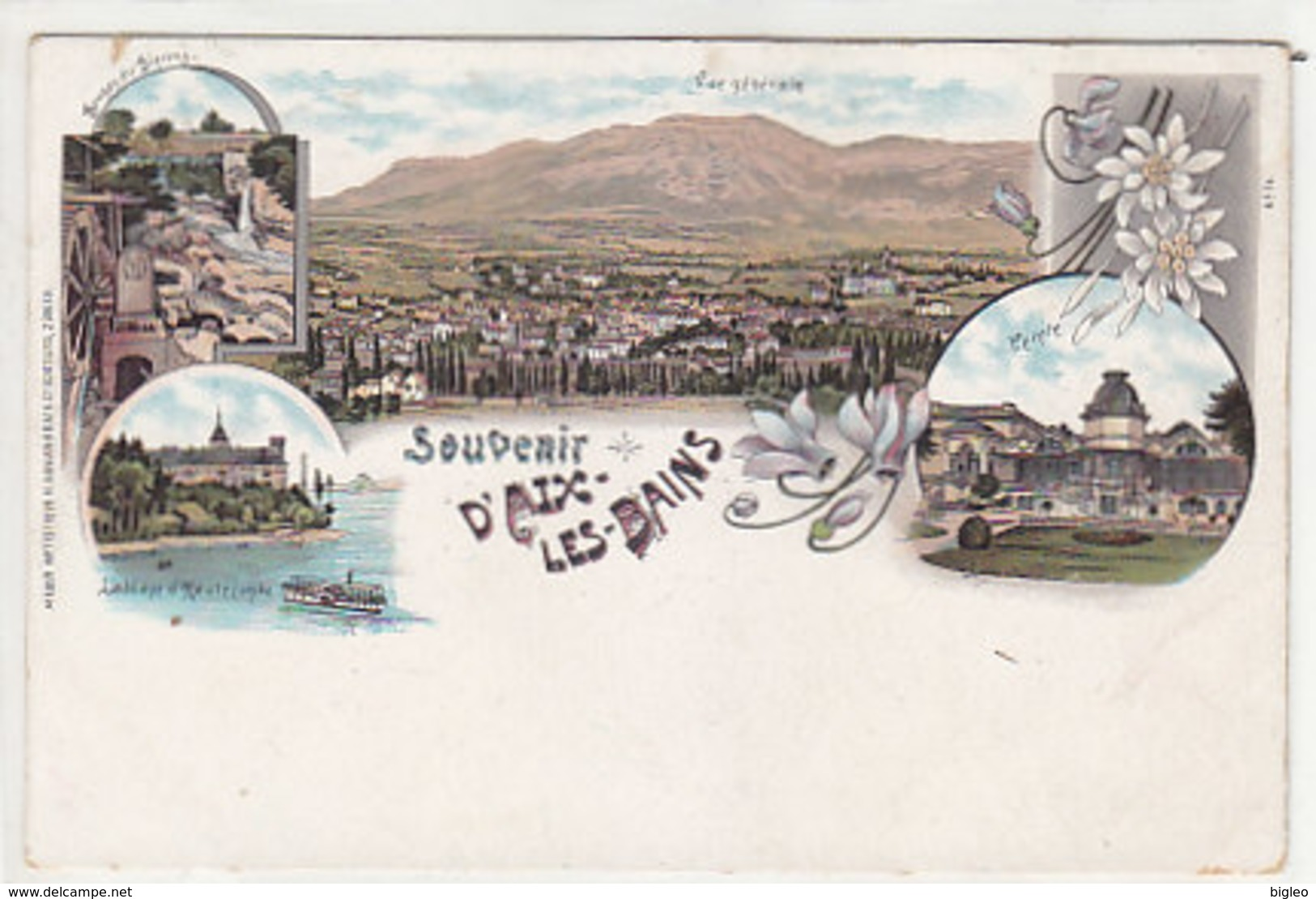 Souvenir D'Aix-les-Bains - Litho Ed.Guggenheim           (A-48-150912) - Aix Les Bains