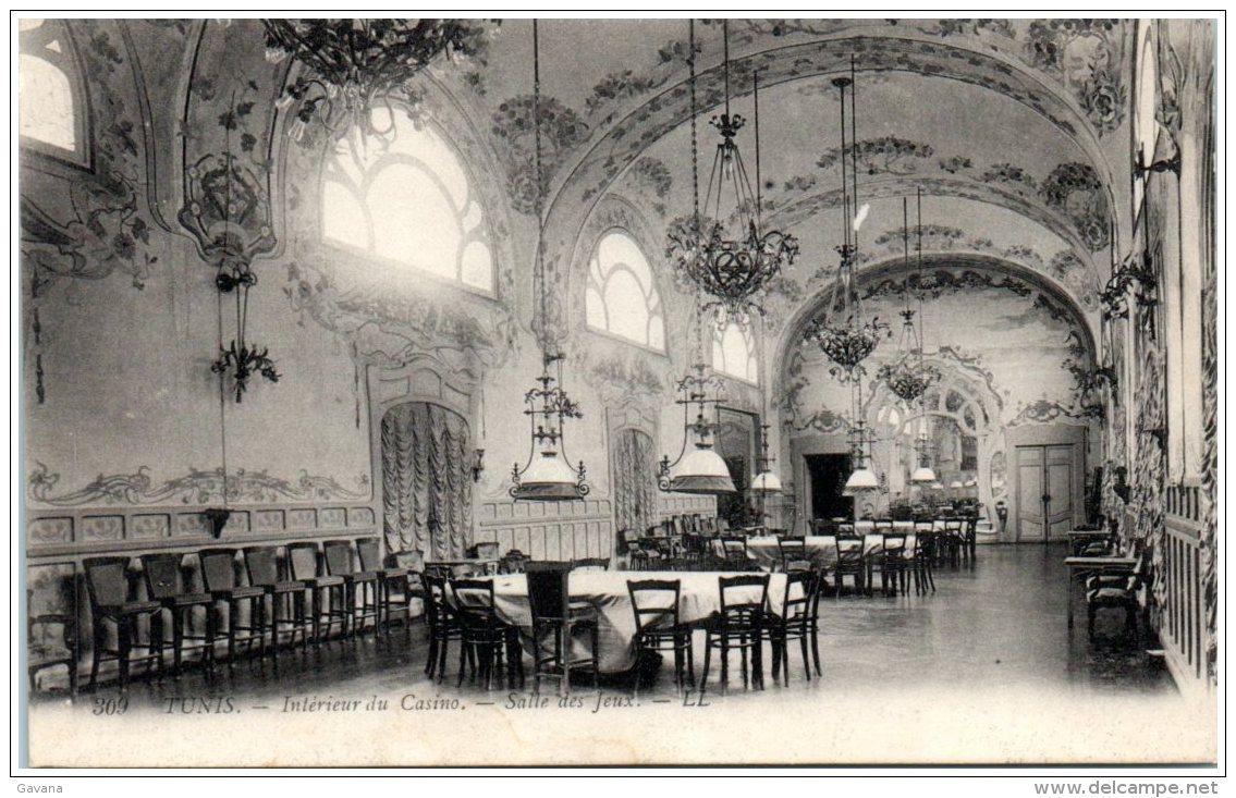 TUNIS - Intérieur Du Casino - Salle Des Jeux  (Recto/Verso) - Tunisia