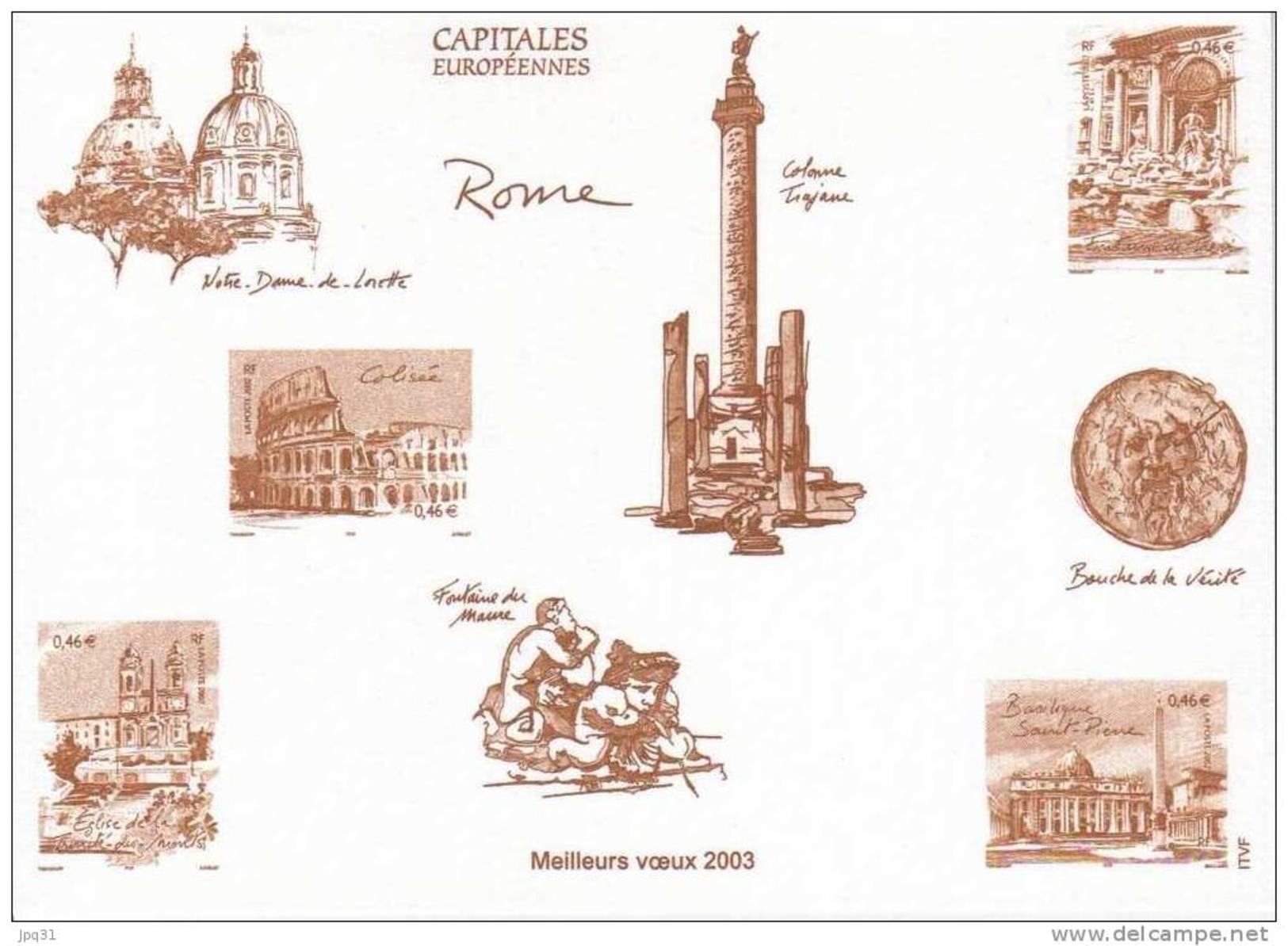 Gravure De La Poste Capitales Européennes : Rome - Documents De La Poste