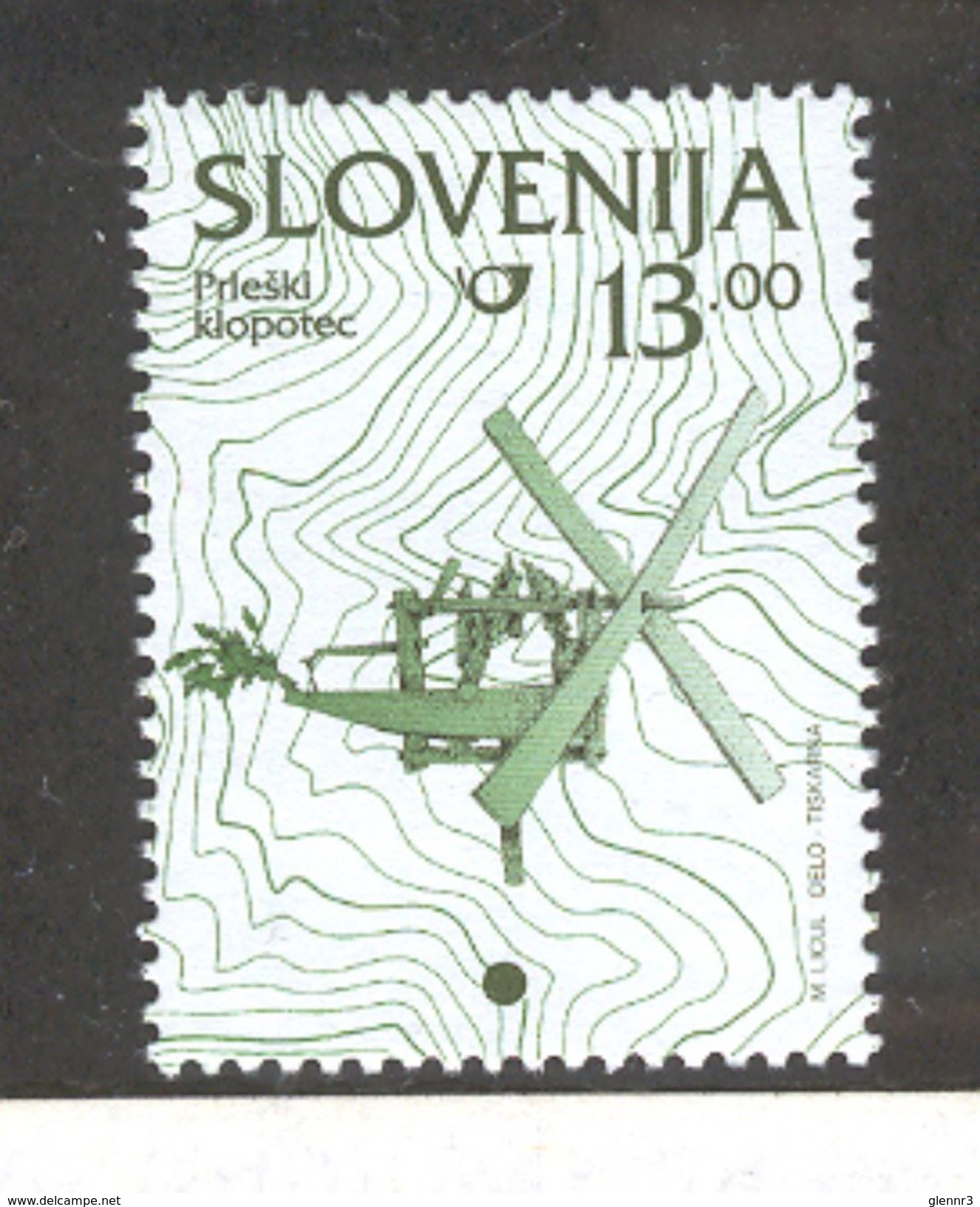 SLOVENIA 1997 Wind Rattle 13t Definitive, Scott Catalogue No. 208A MNH - Slovenia