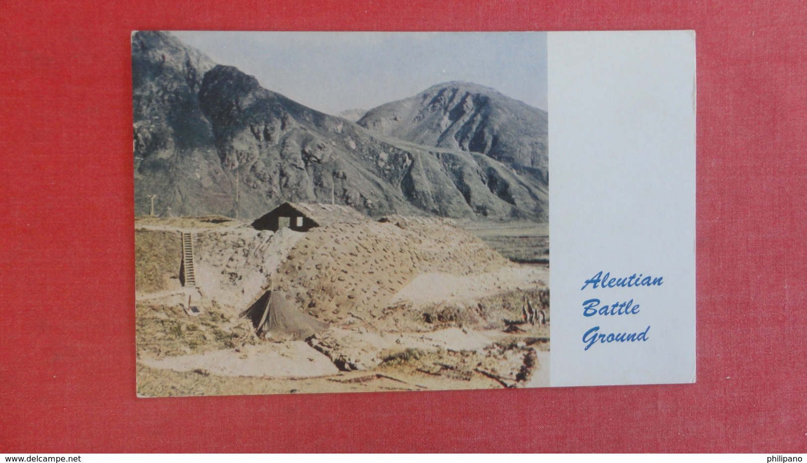 Camouflaged Jap Headquarters Aleutian Battle Ground  Ref 2625 - Guerra 1939-45